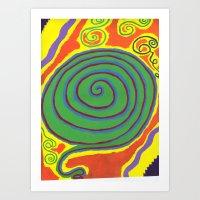 The Swirl of Life Art Print