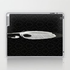 Black and White Feathers Laptop & iPad Skin