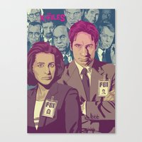 THE X-FILES v2 Canvas Print