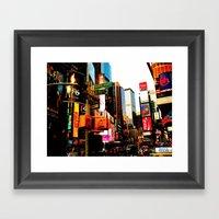NY Life Framed Art Print