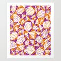 Triangle Pattern Print Art Print
