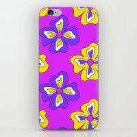 Pop pansy pattern! iPhone & iPod Skin