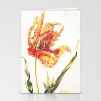 V. Vintage Flowers Botan… Stationery Cards
