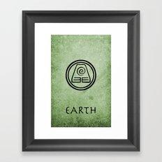 Avatar Last Airbender Elements - Earth Framed Art Print