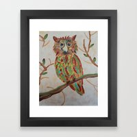 The Owl Of Colors Framed Art Print