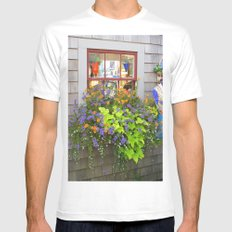 Nantucket Window box Mens Fitted Tee SMALL White