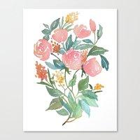 Floral poster Canvas Print