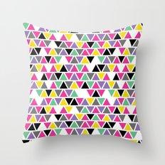 Pop Triangles Throw Pillow