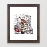 Shop Girl Framed Art Print