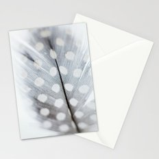 Polka Dot Feather Stationery Cards