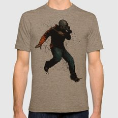Onward Ever Downwards Mens Fitted Tee Tri-Coffee SMALL