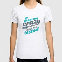 Crazy! Womens Fitted Tee Ash Grey SMALL