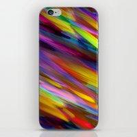 Colorful digital art splashing G398 iPhone & iPod Skin