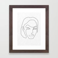 One Line Lara Croft 1996 Framed Art Print