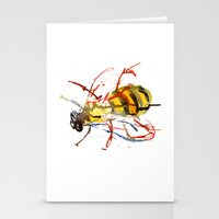 bee Stationery Cards featuring Bee by Lauren Thawley