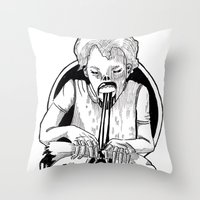 At the testing facility. Part 8 Throw Pillow