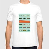 Vintage Automobiles Mens Fitted Tee White SMALL