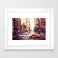 NYC Taxi Framed Art Print