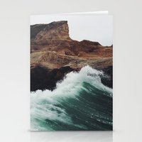 surf Stationery Cards featuring Montaña Wave by Kevin Russ