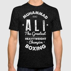 Boxing Ali Canvas Mens Fitted Tee Tri-Black SMALL