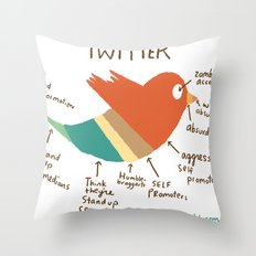 Twitter Throw Pillow
