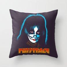 PUSSYFACE Throw Pillow