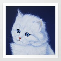 Miss Kitty painting Art Print