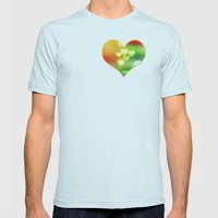Love in Motion Mens Fitted Tee Light Blue SMALL