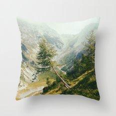 Green pine Throw Pillow
