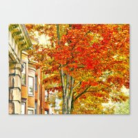 South End. Fall In Bosto… Canvas Print