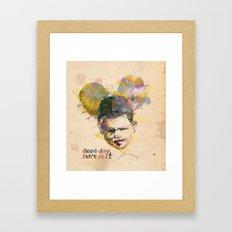 Micky kid. Framed Art Print