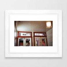 Old City Coffee Framed Art Print