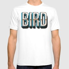 Bird SMALL Mens Fitted Tee White