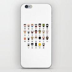 Horror Movies Alphabet iPhone & iPod Skin