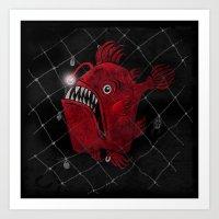 Angry Fish Art Print