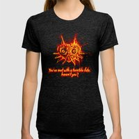 Majora's Mask Fire Womens Fitted Tee Tri-Black SMALL