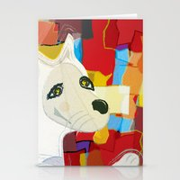 Bad Dog Cubism Stationery Cards