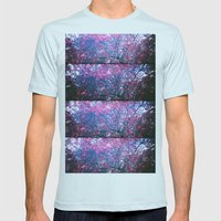 bloom Mens Fitted Tee Light Blue SMALL