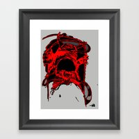 Monster Side Framed Art Print