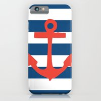 Red Nautical Stripe iPhone 6 Slim Case