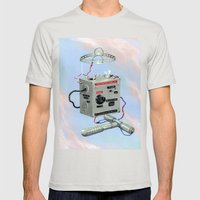 Uncle Rico's Time Machine Mens Fitted Tee Silver SMALL