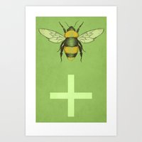 Bee Positive Art Print