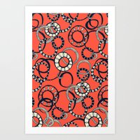 Honolulu hoopla orange Art Print