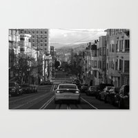 Black And White San Fran… Canvas Print