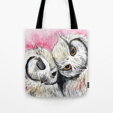 Owl Snuggles Tote Bag