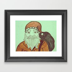 Jolly Old Santa Claus, Merry Christmas. Framed Art Print