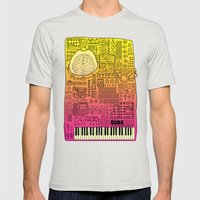 Borg 3000: ANALOG  Mens Fitted Tee Silver SMALL