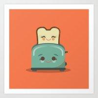 Toasty Buds Art Print