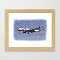 Delta Airlines Boeing 767 Art Framed Art Print