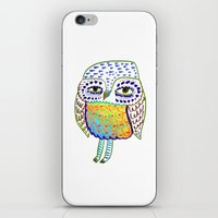 colorful Owl, owl art, owl design, owl print,  iPhone & iPod Skin